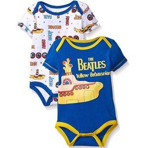 5/$25 Set of 2 'The Beatles' Bodysuits